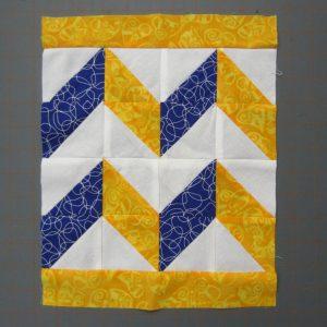 chevron quilt square