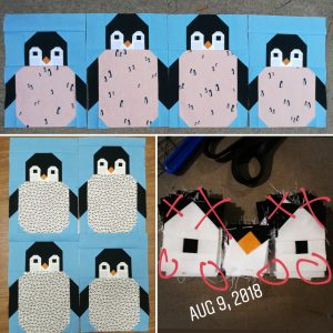 Penguinpartyquilt Progress Report Learning From Mistakes